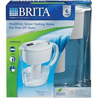 Brita 35250/35566 Water Filter Pitcher, 40 oz Capacity, White