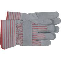 Boss 4093 Driver Gloves, L, Pasted Safety Cuff, Blue/Gray