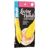Spontex 69983 Extra-Flexible Protector Gloves, L, Yellow, Latex