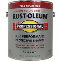 RUST-OLEUM PROFESSIONAL 7765402 High Performance Protective Enamel, Regal Red, Gloss, 1 gal Can