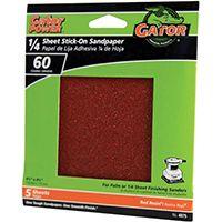 Gator 4075 Sanding Sheet, 60-Grit, Aluminum Oxide