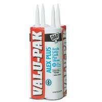 DAP ALEX PLUS 18136 Acrylic Latex Caulk with Silicone, White, 10.1 fl-oz Cartridge