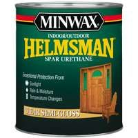 Minwax Helmsman 63210444 Spar Urethane Paint, Clear, Semi-Gloss, 1 qt Can