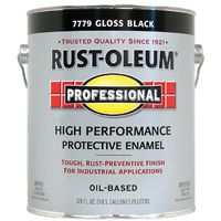RUST-OLEUM PROFESSIONAL 7779402 High Performance Protective Enamel, Black, Gloss, 1 gal Can