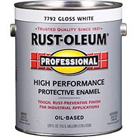 RUST-OLEUM PROFESSIONAL 7792402 High Performance Protective Enamel, White, Gloss, 1 gal Can