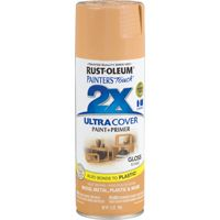 RUST-OLEUM PAINTER'S Touch 249103 General-Purpose Gloss Spray Paint, Gloss, Khaki, 12 oz Aerosol Can