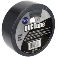 IPG 20C-BK2 Utility-Grade Duct Tape, 60 yd L, 1.88 in W, Rubber Adhesive, Black