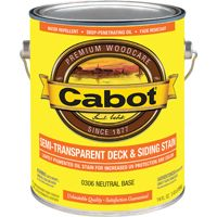 Cabot 300 Series 0306 Deck and Siding Stain, Neutral Base, 1 gal Can