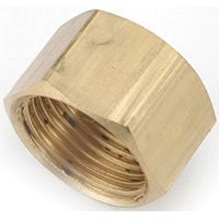 Anderson Metals 730081-04 Tube Cap, 1/4 in Compression, 300 psi, Brass