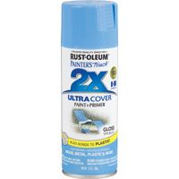 RUST-OLEUM PAINTER'S Touch 249093 General-Purpose Gloss Spray Paint, Gloss, Spa Blue, 12 oz Aerosol Can