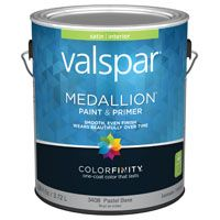Valspar 3408 Interior Latex Wall Paint, Satin, Satin Pastel Base, 1 gal Can