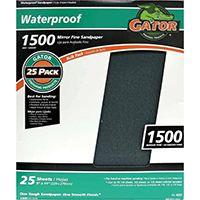 Gator 3287 Sanding Sheet, 1500-Grit, Silicone Carbide