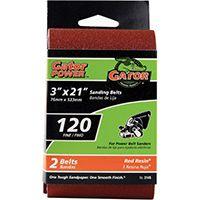 Gator 3145 Sanding Belt, 120-Grit, Fine, 21 in L, 3 in W, Aluminum Oxide