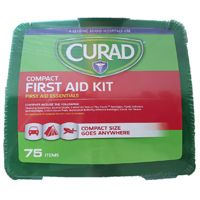 CURAD CURFAK200RB Compact, Latex-Free First Aid Kit, 75-Piece