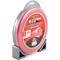 ARNOLD Maxi Edge WLM-1105 Trimmer Line, 0.105 in Dia, Polymer, Red