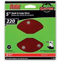 Gator 3781 Random Orbit Sanding Disc, 220-Grit, Extra Fine Grade, Aluminum Oxide, 5 in Dia