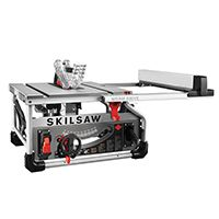 SKILSAW SPT70WT-22 Table Saw, 120 V, 9-1/4 in Rip Left, 25 in Rip Right Cutting, 10 in Dia Blade