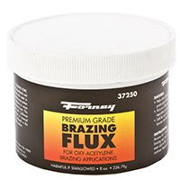 Forney 37250 Brazing Flux, White, 0.5 lb Re-Sealable Tube