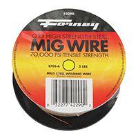 Forney 42290 MIG Welding Wire, 0.024 in Dia, Mild Steel Spool