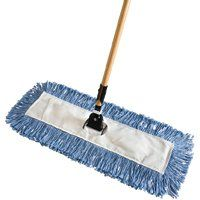 Rubbermaid FGU83228BL00 Dust Mop, Invader Handle, Cotton Head, Blue