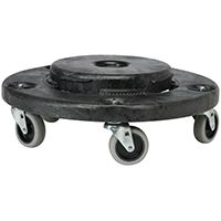 Rubbermaid FG264020BLA Trash Can Dolly, 350 lb Weight Capacity, Plastic