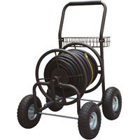 Landscapers Select Hose Reel Carts, 250 Ft. Capacity, Powder Coated Steel