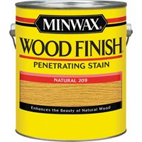 Minwax Wood Finish 71000000 Wood Stain, Natural, 1 gal Can