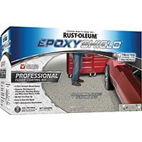 RUST-OLEUM EPOXYSHIELD 203373 Floor Coating Kit, Gray/Silver, Semi-Gloss