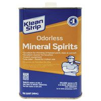 Klean Strip QKSP94005 Odorless Mineral Spirit Thinner, 1 qt Can