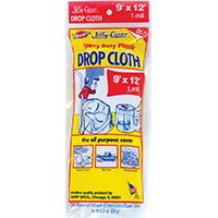 Warp's JCS-912-M Drop Cloth, 12 ft L, 9 ft W, Plastic, Clear