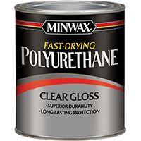 Minwax 63000444 Polyurethane Paint, Clear, Gloss, 1 qt Can