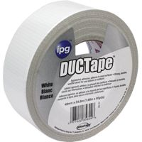 IPG 20C-W2 Utility-Grade Duct Tape, 60 yd L, 1.88 in W, Rubber Adhesive, White