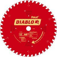 Diablo D1244X Circular Saw Blade, 12 in Dia, Carbide Cutting Edge, 1 in Arbor, Steel