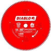 Diablo D12100X Circular Saw Blade, 12 in Dia, Carbide Cutting Edge, 1 in Arbor