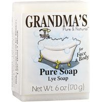 GRANDMA'S 60018 Pure and Natural Bar Soap White, 6 oz