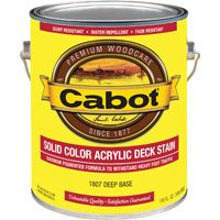 Cabot 1800 Series 1807 Decking Stain, Low-Luster, 1 gal Can