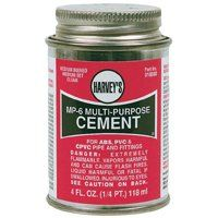 HARVEY MP-6 Series 018010-24 Solvent Cement, Milky Clear, 8 oz Can