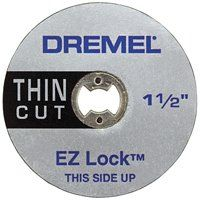 DREMEL EZ Lock EZ409 Cut-Off Wheel, 1-1/2 in Dia