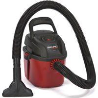 Shop-Vac Micro 2021000 Dry/Wet Corded Vacuum, 120 V, 1 gal Tank, 50 cfm