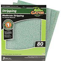 Gator 7261 Sanding Sheet, 80-Grit, Medium, Aluminum Oxide