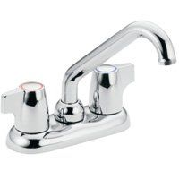 Moen Chateau 74998 Laundry Faucet, 2-Faucet Handle, 6-5/8 in H Spout, Chrome