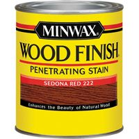 Minwax Wood Finish 70043 Wood Stain, Sedona Red, 1 qt Can