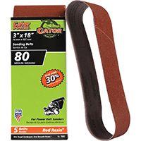 Gator 7032 Sanding Belt, 80-Grit, Medium, 18 in L, 3 in W, Aluminum Oxide