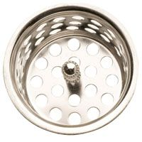 Plumb Pak PP820-30 Basket Strainer with Post, 1-1/2 in Dia, Chrome
