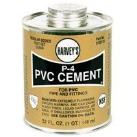 HARVEY P-4 Series 018130-12 Solvent Cement, Clear, 32 oz Can