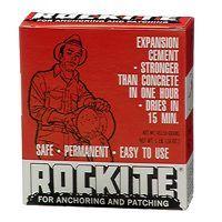 Rockite 10001 Expansion Cement, White, 1 lb Box