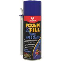 Red Devil Foam & Fill 0913 Minimal Expansion Foam Sealant, Champagne, 12 oz Aerosol Can