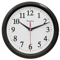 Westclox 461861 Wall Clock, Round, Analog Display, Analog, Black Frame