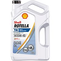 Shell Rotella T4 Series 550045126 Engine Oil Clear Amber, 1 gal Jug