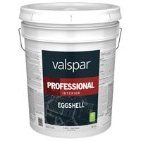 Valspar 11811 Professional Interior Latex Paint, Eggshell, Light Base, 5 gal Pail